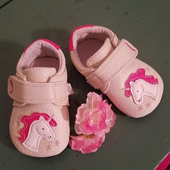 3cc953f862cc Jack and Lily Leather Unicorn Baby Shoes. M 5b8188e803087cc47605c53a